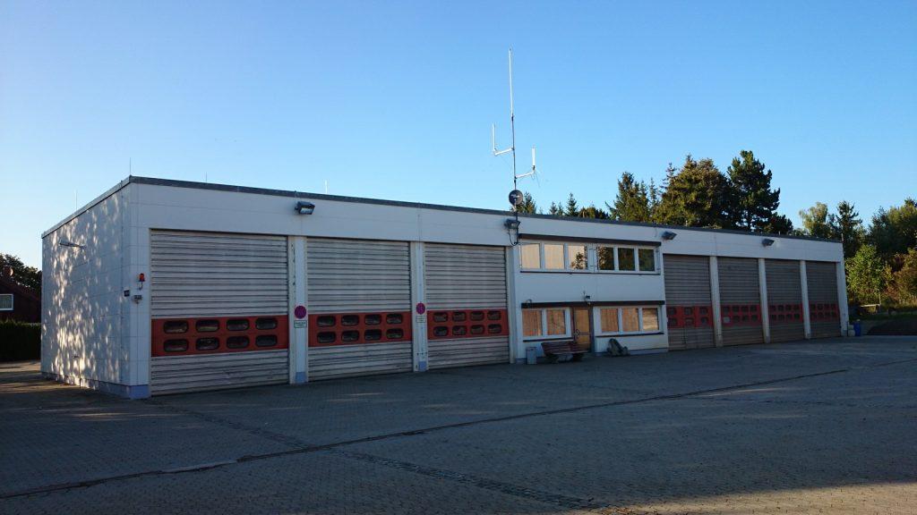 Das Feuerwehrgerätehaus Dornstadt in der Daimlerstraße.