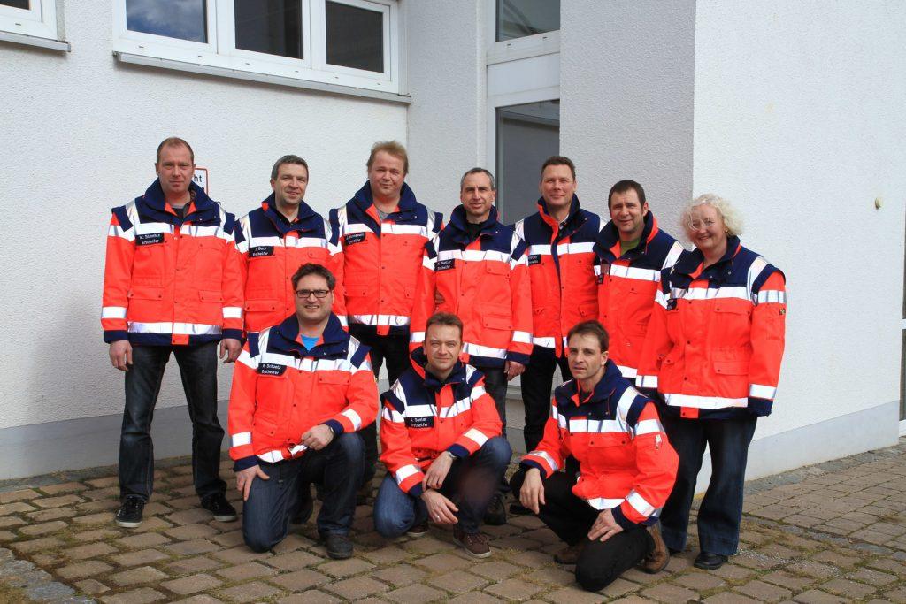 Die Ersthelfergruppe der Abteilung Scharenstetten.