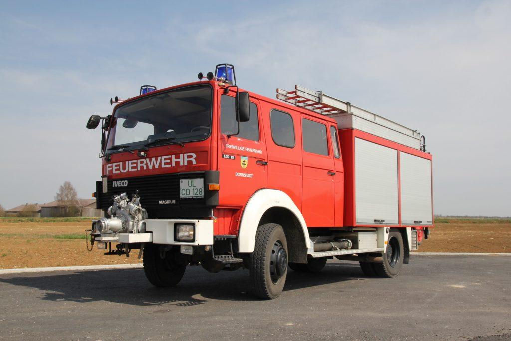 Das LF 16-TS ist das älteste Fahrzeug im Fuhrpark.