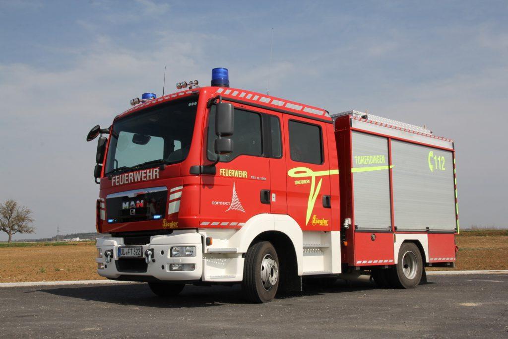 Das Löschgruppenfahrzeug StLF 10/6 der Abteilung Tomerdingen.